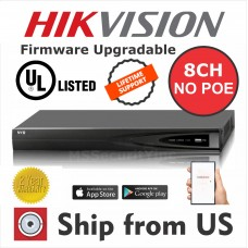 8CH NVR 1080P 6MP NO POE Hikvision OEM MS-8808NI-E1 UL LISTED
