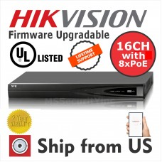 16CH  NVR 1080P 6MP 8 POE 2 SATA Hikvision OEM UL LISTED MS-8816NI-E2/8P NO HDD