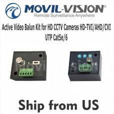 Active Video Balun Kit for HD CCTV Cameras HD-TVI/AHD/CVI UTP Cat5e/6 UP 1968ft