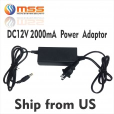 DC 12V Power Supply Adapter 2000mA PS-200