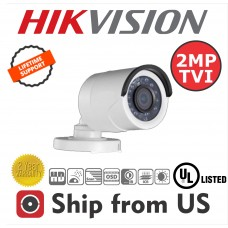 2MP Bullet Camera 4in1 TVI/AHD/CVI/CVBS 2.8mm 20m IR Hikvision OEM UL LISTED TVI-B7528H4