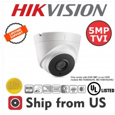 5MP TVI Turret Cam Motorized Len 2.8~12mm Hikvision OEM UL LISTED Hikvision OEM