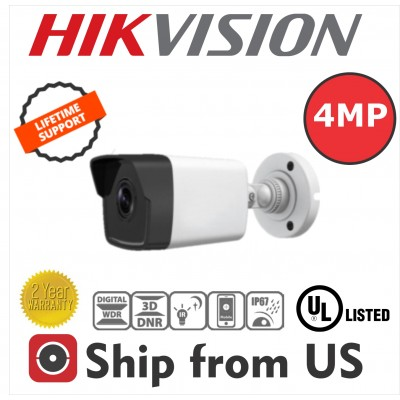 4MP IP Bullet Camera PoE 2.8mm  30m IR WDR IP67 Hikvision OEM UL LISTED