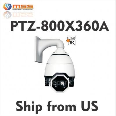 """7"""" PTZ Speed Dome 700TVL Camera 360X Zoom Outdoor Fill Light IR 650ft AC24V 360A"""