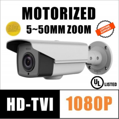 2MP HD-TVI 1080P CAMERA MOTORIZED ZOOM 5~50mm IR 110m HIKVISION OEM UL LISTED TVI-B550ZH DS-2CE16D9T-AIRAZH