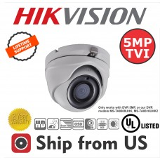 5MP TVI Turret Camera 2.8mm Lens EXIR 20M IR Hikvision OEM UL LISTED  Hikvision OEM