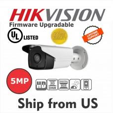 5MP IP Camera EXIR Bullet 3-axis adjustment IR 50M IP66 UL Listed