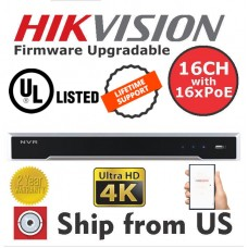 16CH NVR 4K 16 POE 12MP IP CAMERA Hikvision OEM UL LISTED MS-8816NI-I2/16P NO HDD